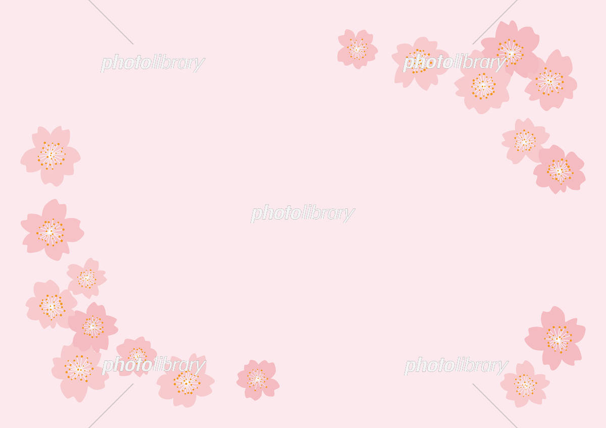 桜 フレーム イラスト素材 [ 5437101 ] - フォトライブラリー photolibrary