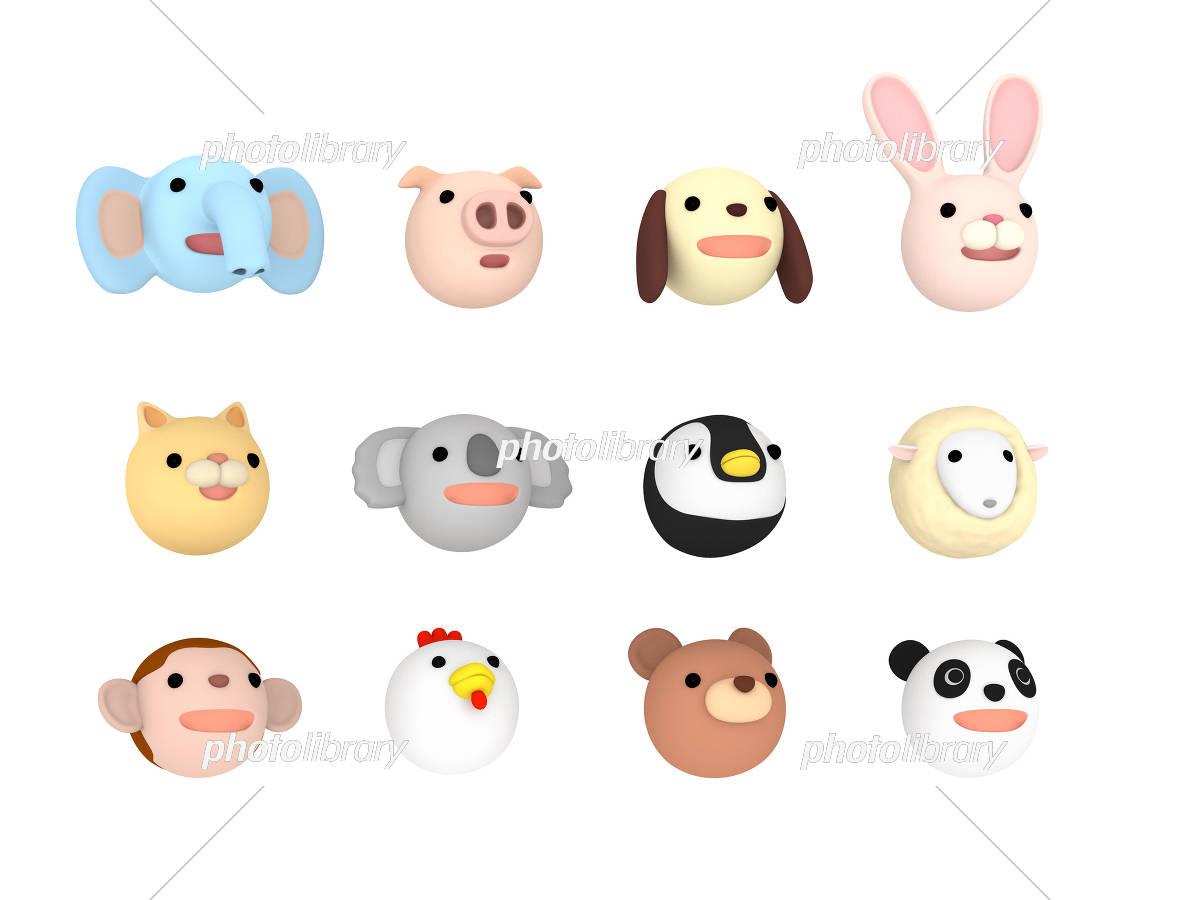 動物イラストセット 上向き 3dイラスト イラスト素材 [ 5438364