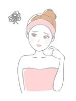 イラスト Female beauty suffers(5436066)