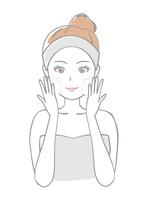 イラスト Young lady washing face(5436824)