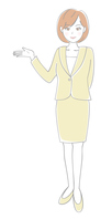 イラスト Suit women's guide(5436838)