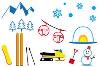 イラスト Snow illustration set(5436841)