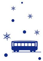 イラスト Travel with snow local line(5436846)