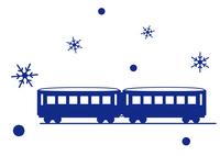 イラスト Traveling by snow rail(5436848)