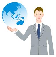 イラスト Businessman Earth(5437154)