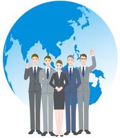 イラスト Businessman team Earth(5437155)