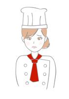 イラスト Women suffer chef pastry(5437617)