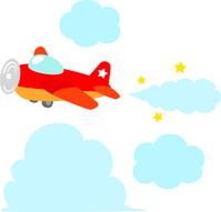 イラスト Red propeller plane(5437797)