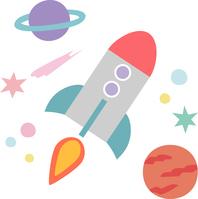 イラスト Rocket that fly in space(5437807)
