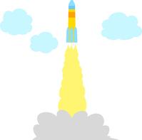 イラスト Launch rocket and smoke(5437813)