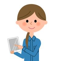 イラスト Work clothes female tablet(5438044)