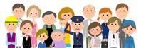 イラスト People in the city Various occupations(5438098)