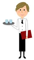 イラスト Cafe staff carry clerk(5438124)
