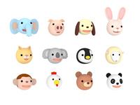 イラスト Animal illustration set right, 3D illustration(5438363)