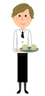 イラスト Cafe staff carry clerk(5439147)