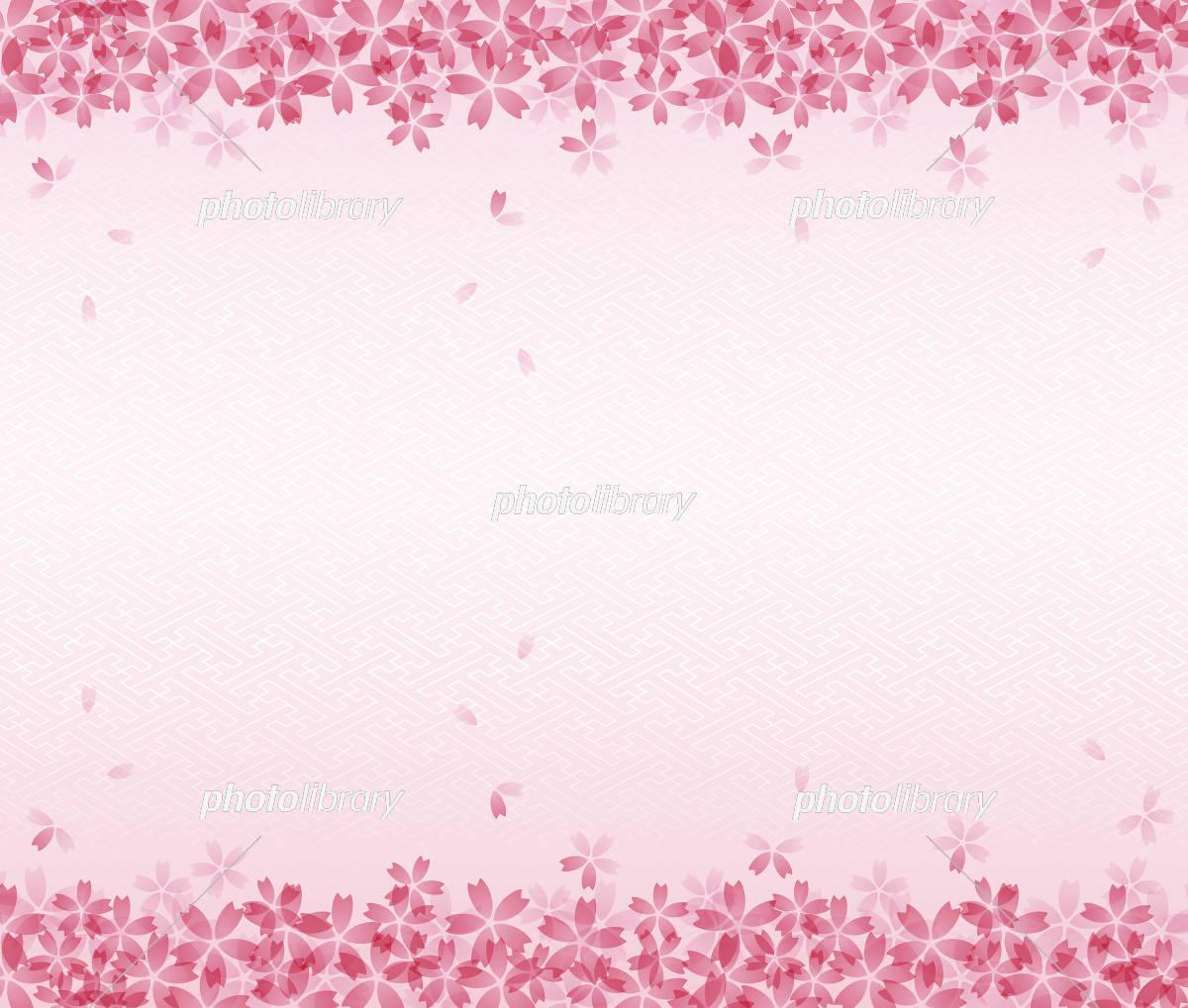 桜の和風背景イラスト 桜吹雪 イラスト素材 [ 5468863 ] - フォトライブ