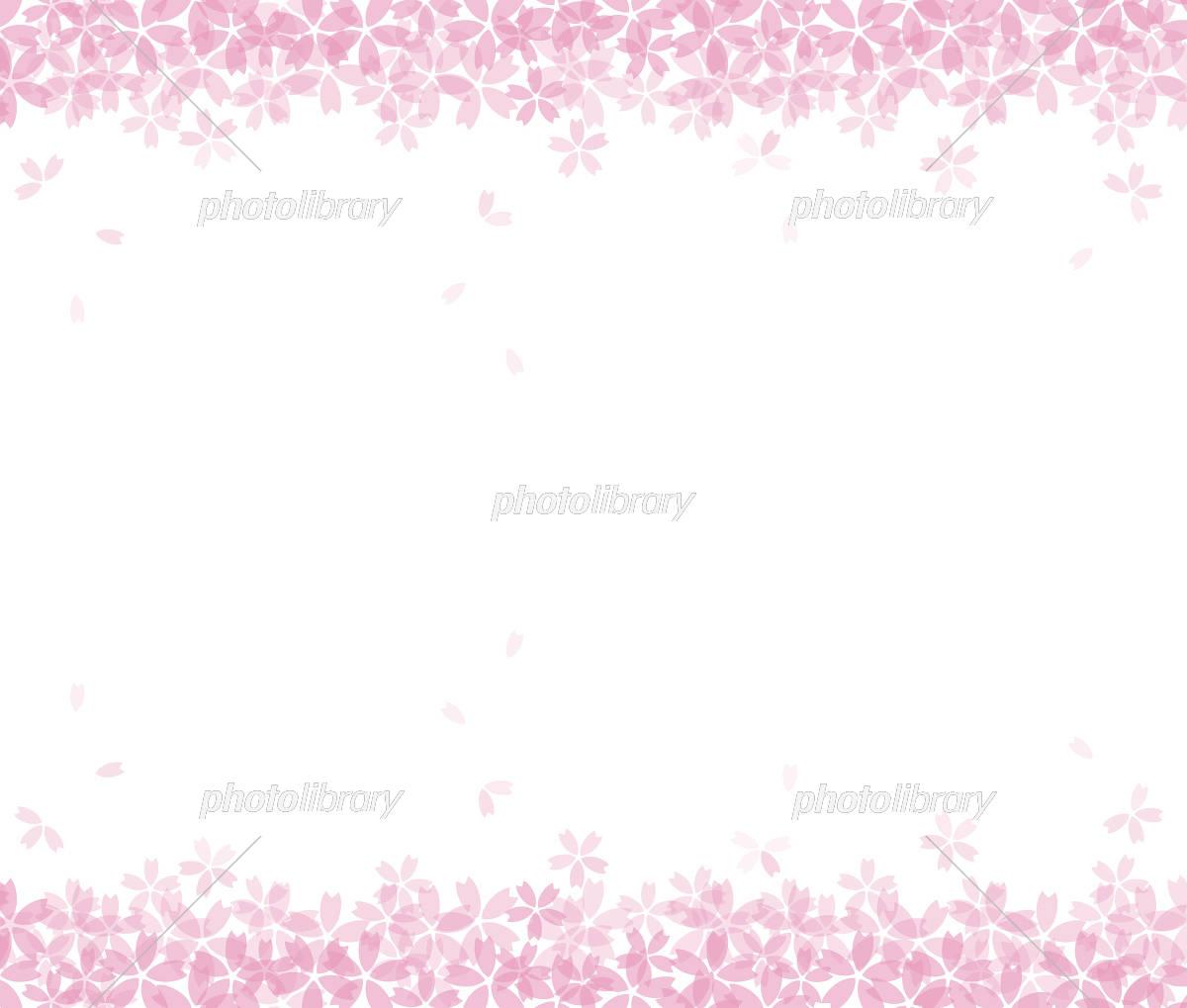 桜の和風背景イラスト 桜吹雪 イラスト素材 [ 5468865 ] - フォトライブ