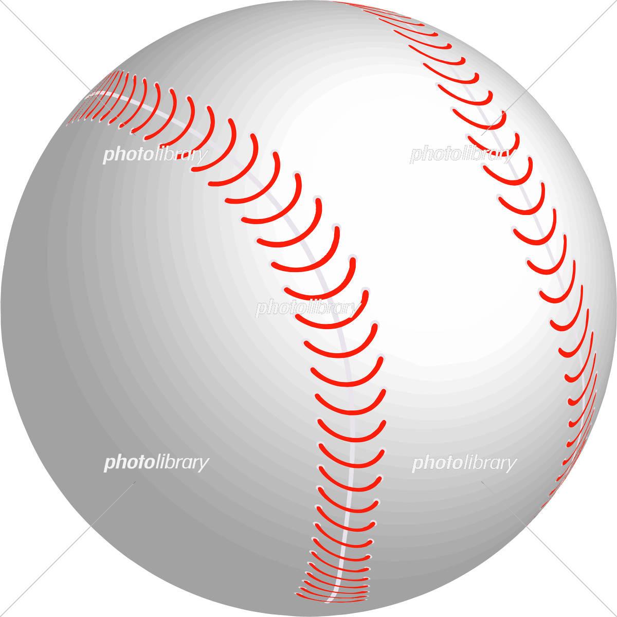 野球ボール 3d イラスト イラスト素材 [ 5469057 ] 無料素材- フォト