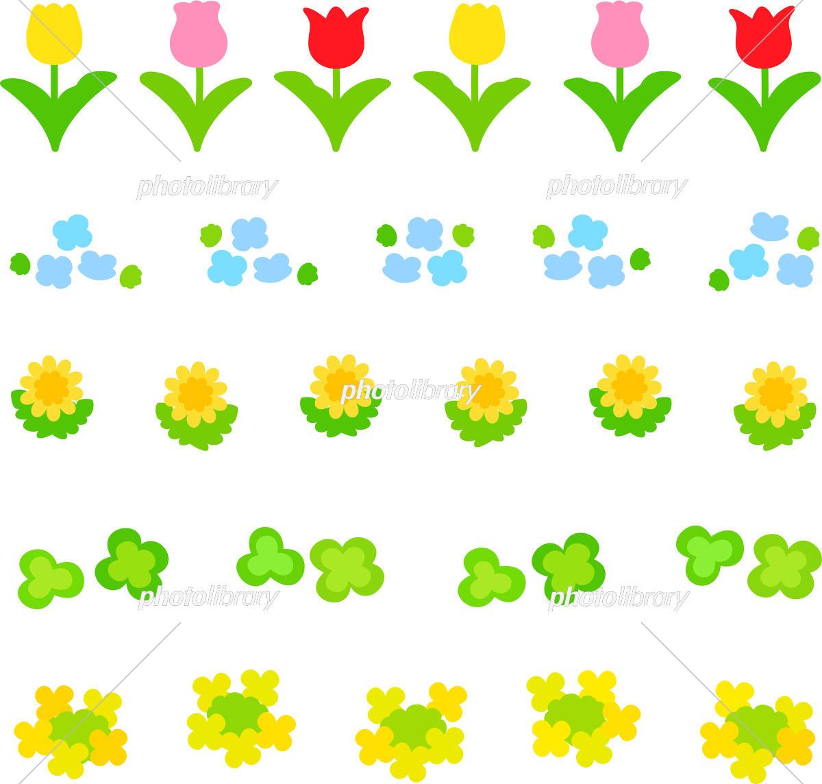 春の花のデコレーションイラスト イラスト素材 5469538 フォト