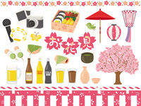 イラスト Cherry-blossom illustration material set(5470101)