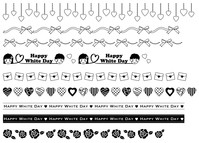 イラスト White day's decorative line black and white(5470438)