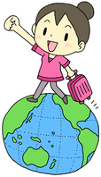 イラスト Overseas Travel Women Earth(5470915)