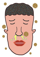 イラスト A man suffering from a runny nose(5471206)