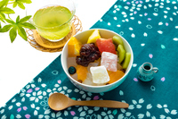 写真 Japanese fresh fruit and Japanese tea(5471365)