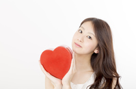 写真 A woman with a heart(5471590)