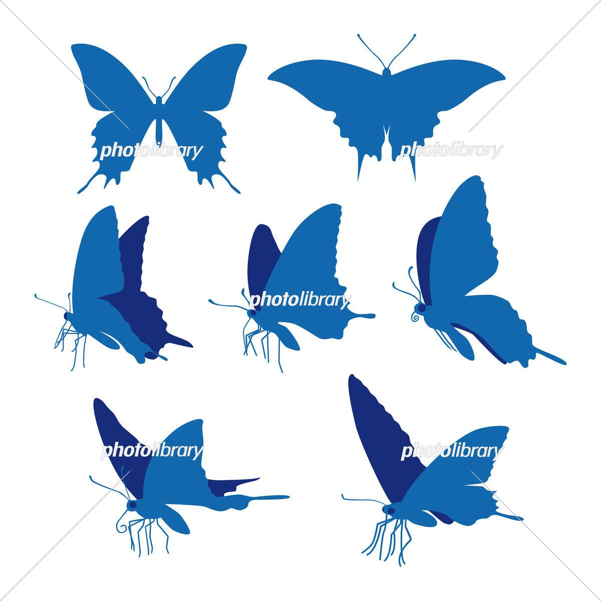 アゲハ蝶のシルエットイラスト イラスト素材 [ 5502791 ] - フォトライブ