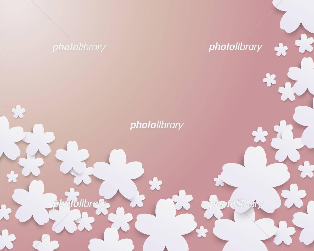 桜 春 イラスト 背景 イラスト素材 [ 5506214 ] - フォトライブラリー