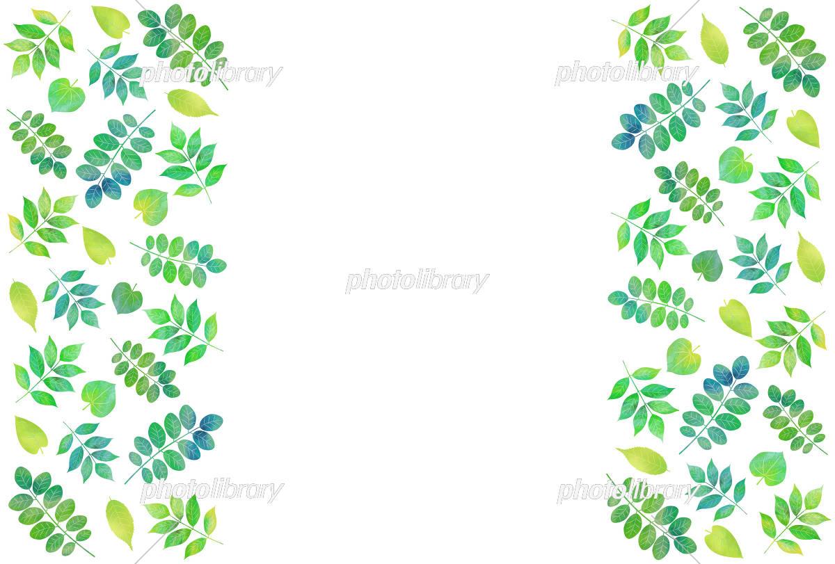 葉っぱの背景のイラスト素材