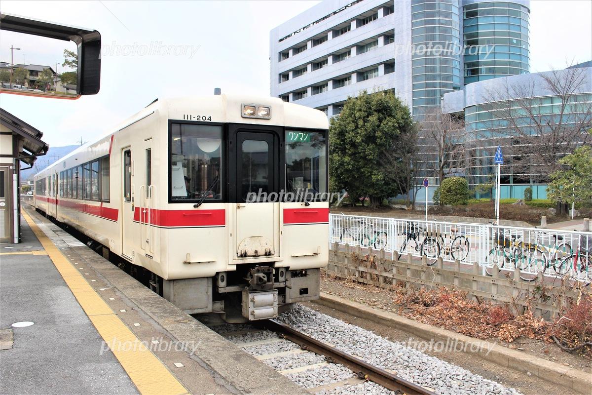 寄居駅の八高線列車