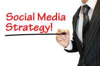 """Social Media Strategy"" SNS戦略を強調 written by a young businessman  Social"