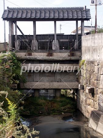 江戸時代の水門の写真 無料 フリー