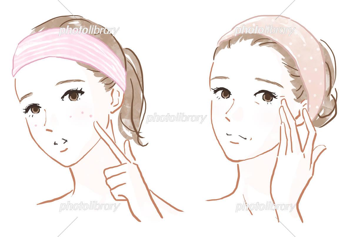 肌の悩み イラスト素材 5537351 フォトライブラリー Photolibrary