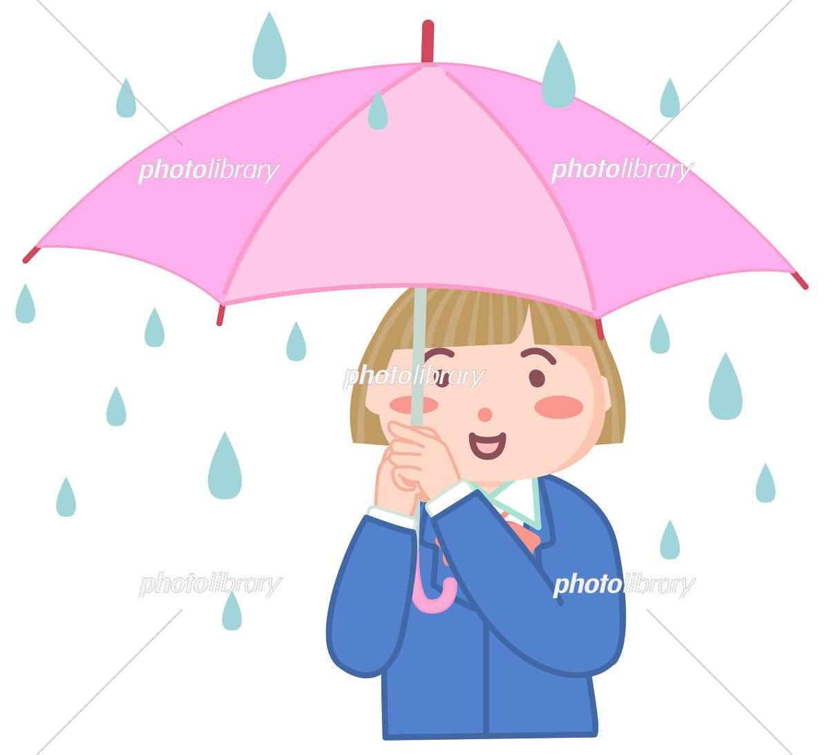傘を差す女の子 イラスト素材 5539197 フォトライブラリー