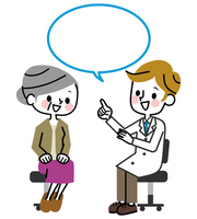 Medical examination senior women smile Consultation