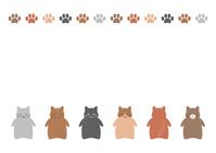 イラスト Cats illustration frame white background(5544267)