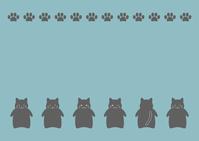 イラスト Black cat black cat illustration frame(5544268)