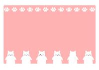 イラスト White cat white cat illustration frame(5544269)