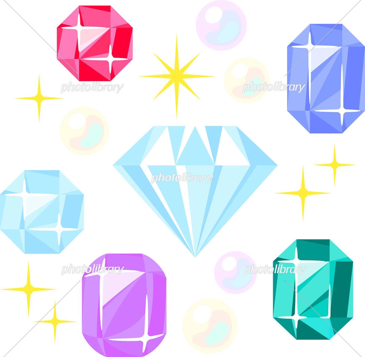 いろいろな宝石 イラスト素材 5570789 フォトライブラリー
