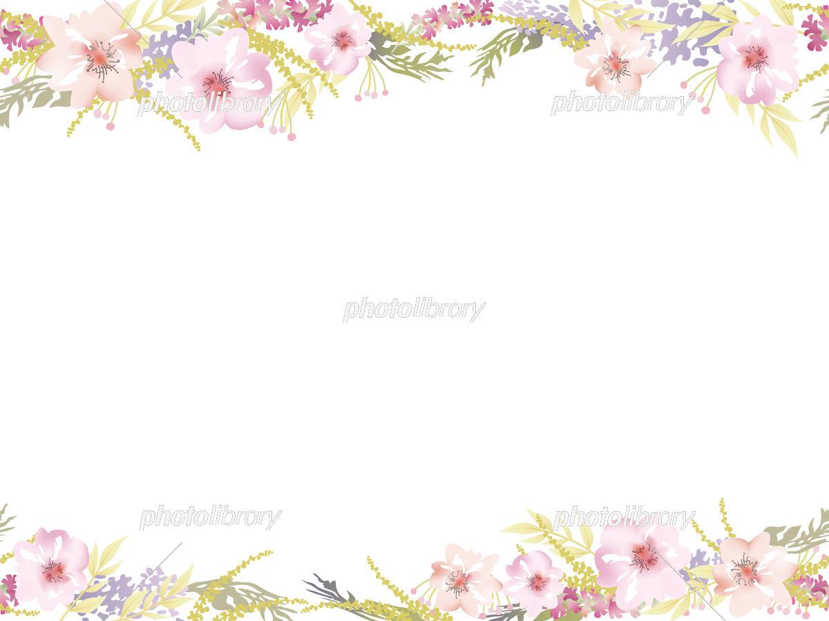 水彩風 シームレスな花の背景 イラスト素材 [ 5571464 ] - フォトライブ