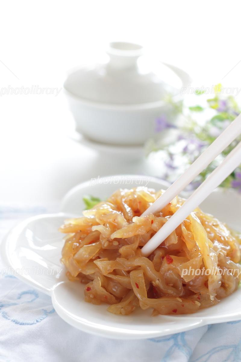 Chinese jellyfish and tea Photo
