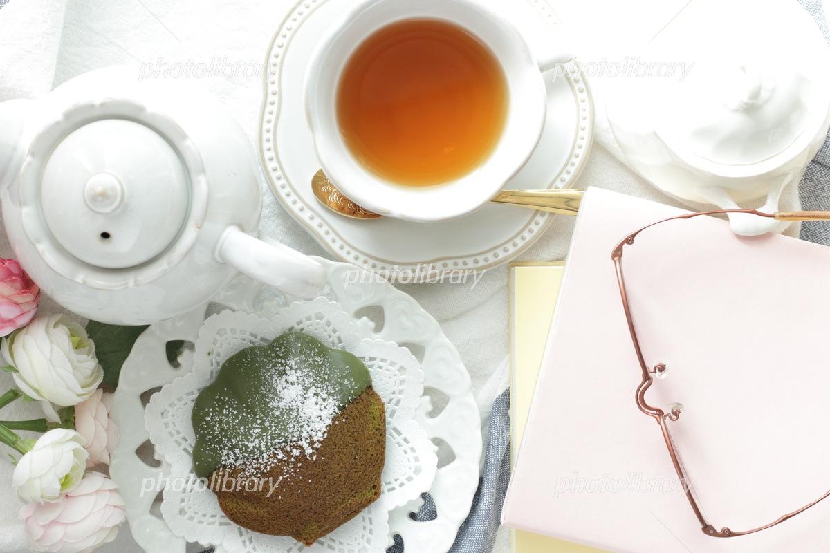 Matcha Madeleine and Tea Photo