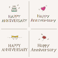Happy Anniversary 手書きフォント Happy