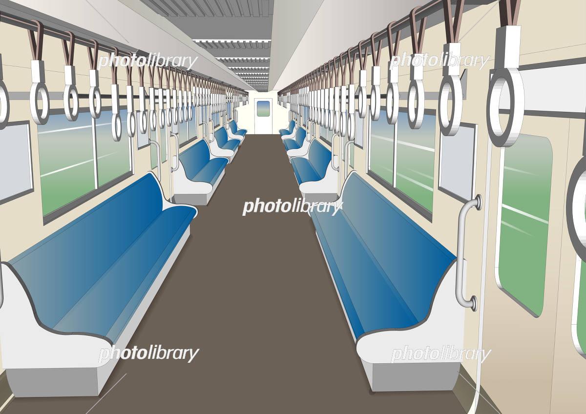 電車内の風景 イラスト素材 5609206 フォトライブラリー Photolibrary