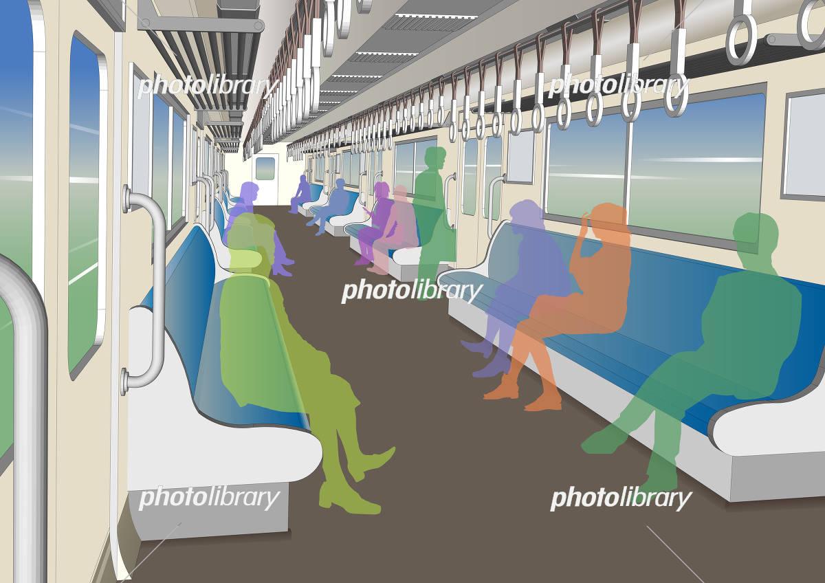 電車内の風景 イラスト素材 5609207 フォトライブラリー Photolibrary