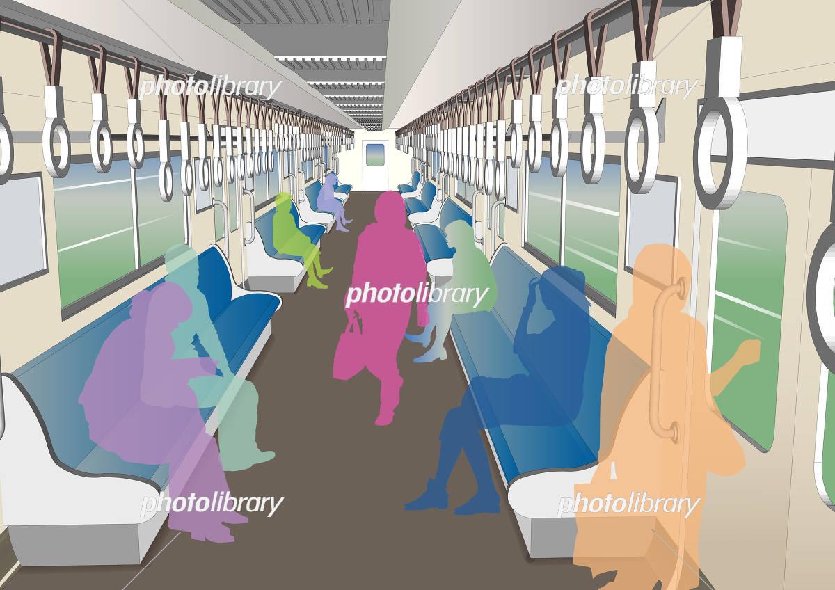 電車内の風景 イラスト素材 5609218 フォトライブラリー Photolibrary