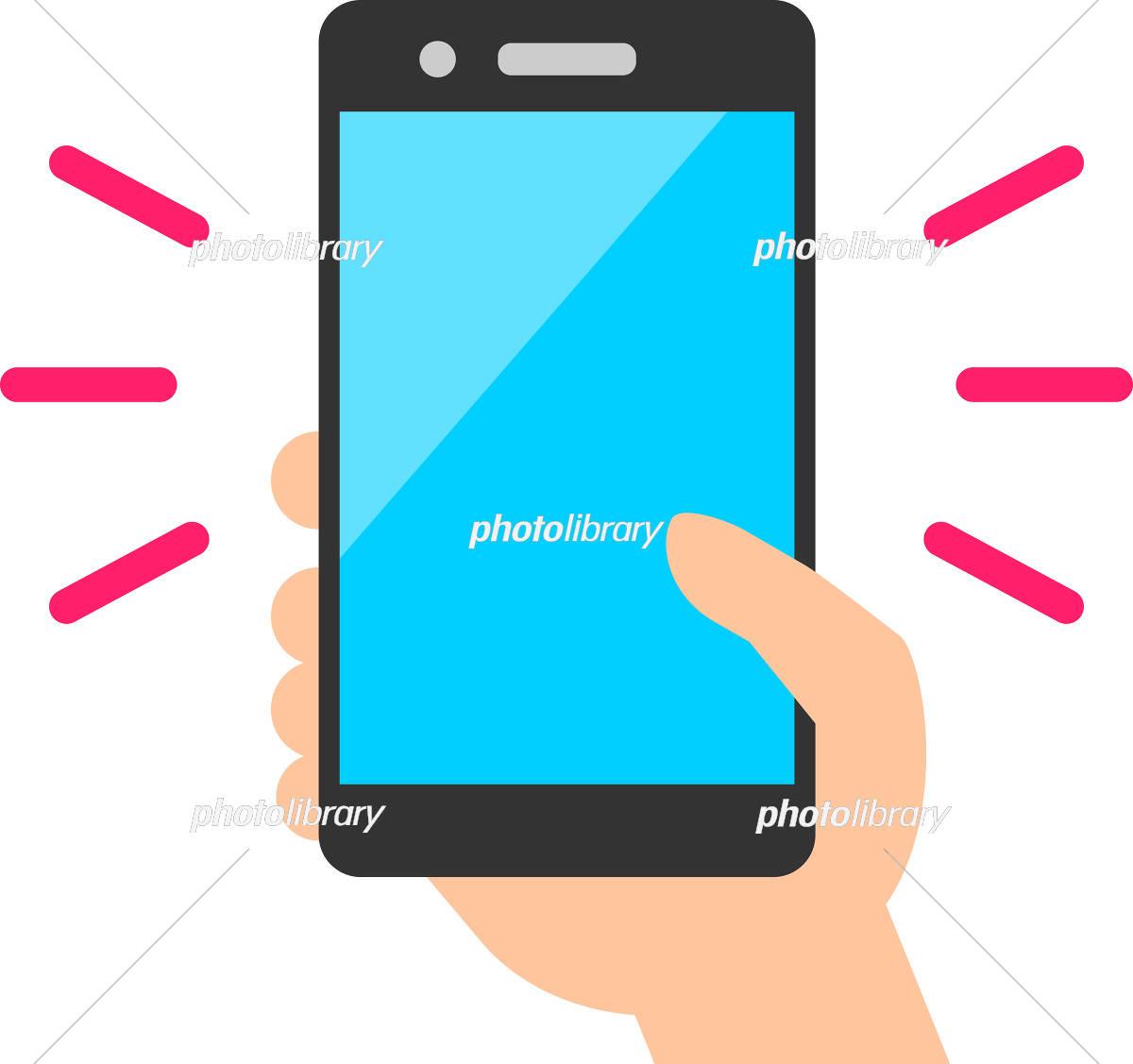 スマートフォンの画面に触れる親指 イラスト素材 5681344 フォト